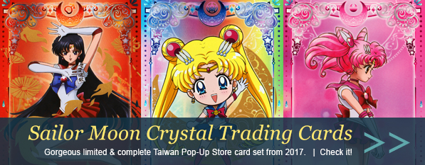 Sailor Moon Crystal Taiwan Pop-Up Store Cards 2017